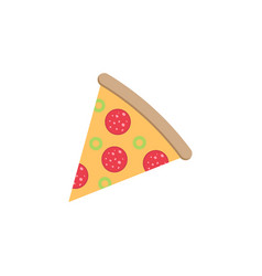 Pizza slice flat icon food drink elements vector