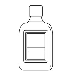 plastic bottle icon outline style vector image