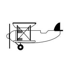 propeller airplane icon image vector image