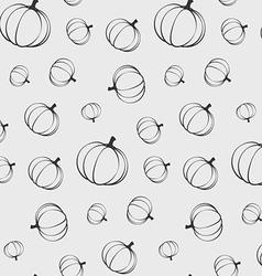 pumpkins seamless pattern silhouette vector image
