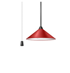 Retro hanging lamp in red design vector