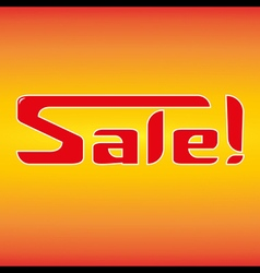 Sale in hot style vector image