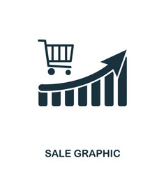 Sale increase graphic icon mobile apps printing vector