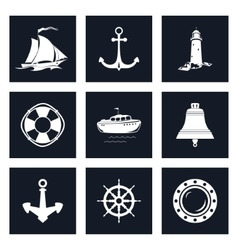 Set of Marine Icons vector image