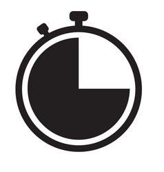stopwatch icon on white background flat style vector image