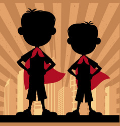 Super kids 2 boys vector