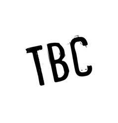 Tbc rubber stamp vector