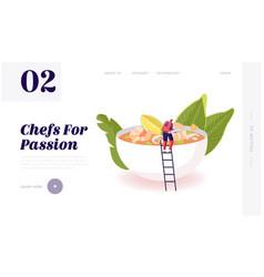 Thai food national meal seafood menu website vector