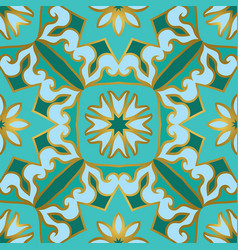 turquoise pattern for tiles vector image
