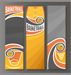 vertical banners for basketball vector image vector image