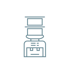 water dispenser linear icon concept water vector image