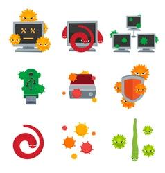 Computer Viruses vector image vector image
