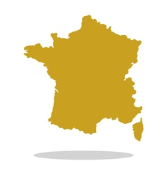 map of france vector image vector image