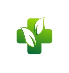 medicine pharmacy health logo medical herbal plus vector image