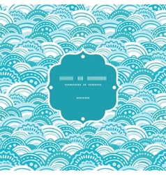abstract blue waves frame seamless pattern vector image vector image