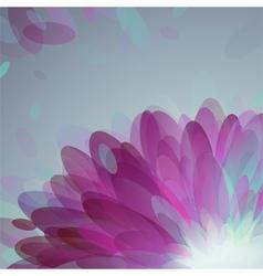 Abstract purple petals vector image