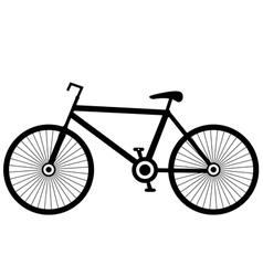bike black vector image