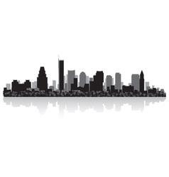 Boston USA city skyline silhouette vector image