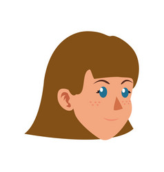 Character face woman girl child vector