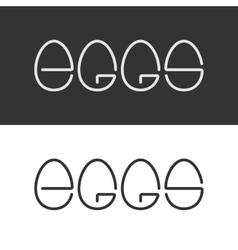 Egg Shape Text Logo Minimalism Style Logotype vector image vector image