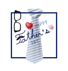 happy fathers day concept design of necktie and vector image