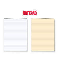 Realistic notepad set isolated on white vector