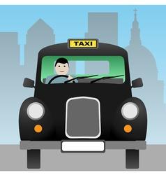 taxi cab vector image vector image