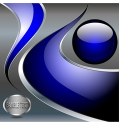 abstract technology metallic background with blue vector image