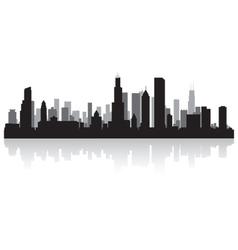 Chicago USA city skyline silhouette vector image