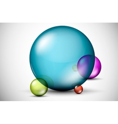 Colorful 3D glass balls vector image vector image