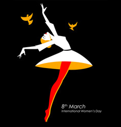 Happy international womens day 8th march greetings vector