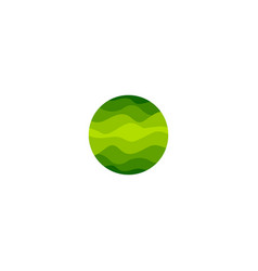 Isolated abstract green color round shape logo of vector