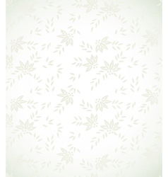 Silver floral background vector image vector image