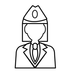 train conductor icon outline style vector image