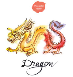 yellow-red dragon vector image