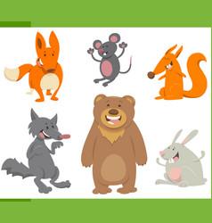 cute animals cartoon set vector image vector image