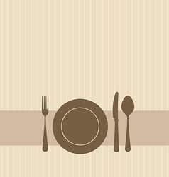 dinner setting vector image