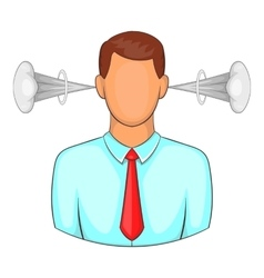 Man with steam out of ears icon cartoon style vector