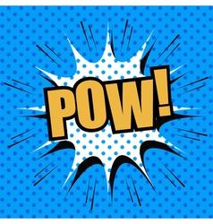 POW comic cartoon vector image