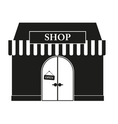 shop sign black icon on vector image vector image