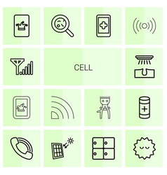 14 cell icons vector