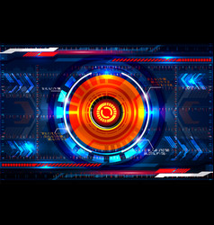 Abstract circle technology vector