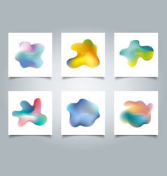 Abstract cover set colorful gradient liquid vector