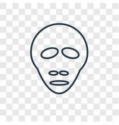 alien concept linear icon isolated on transparent vector image
