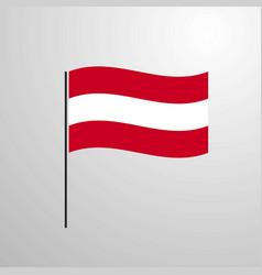 Austria waving flag vector