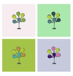 Balloons collection vector