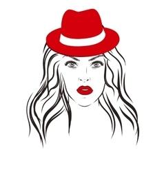 Beautiful fashion woman portrait on background vector image