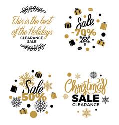 Best christmas clearance discount labels poster vector