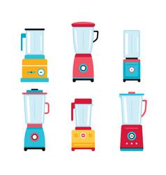 Blender juicer mixer kitchen appliance icon set vector
