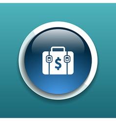 Briefcase icon Flat design style vector image